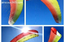 UP Ascent 4L Gleitschirm (95-130kg) Farbe red-lime